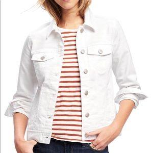 Gap Womens White Denim Jean Jacket Sz S